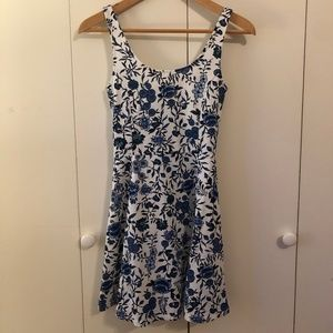 H&M Blue and white mini dress